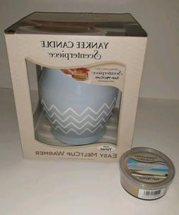 Yankee Candle Blue Scenterpiece Easy Meltcup Warmer With Tim