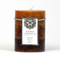 BULK LOT DISCOUNTS Amber and Honey Scented Pillar Candle - S