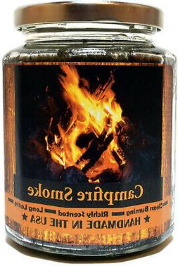 Campfire Smoke Wood Wick Candle Super Scented Natural Wax Bu
