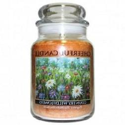 A Cheerful Giver Candle - Country Wildflowers - 24-oz Jar