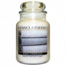 A Cheerful Giver Candle - Luxurious Linen - 24-oz Jar