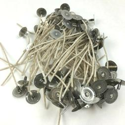 Candle Wicks 50 Qty Pre-Tabbed Heinz Cotton CD 5-12 Small Me