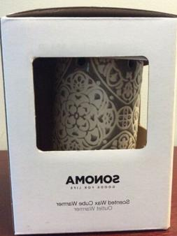 """Sonoma """"Goods for Life"""" Ceramic Gray Candle Scented Wax Cube"""
