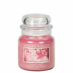 Village Candle Cherry Blossom 16 Oz Glass Jar Scented Candle