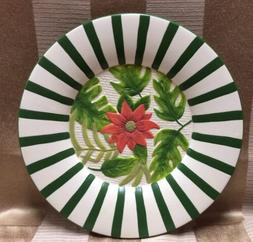 Yankee Candle ~ CHRISTMAS POINSETTIA CANDLE PLATE ~ Fits Lar