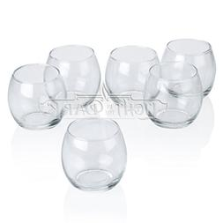Light In The Dark Clear Glass Hurricane Votive Candle Holder