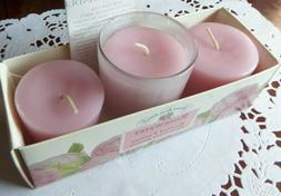 Crabtree and Evelyn Rosewater Scented Votive Candles with Gl
