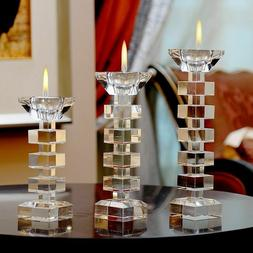 Crystal Candlestick Candle Holder Stand Tealight Centerpiece