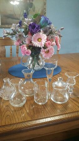 Princess House crystal choice,candle holder, vase small or l