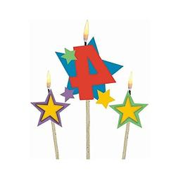 #4 Decorative Birthday Candle & Star Candles   Party Supply
