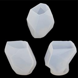 DIY Silicone Candle Mold Polygon Moulds Craft Art 3D Candle