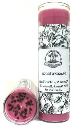Dragons Blood 7 Day Soy Spell Candle Love Power Purification