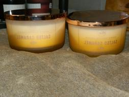 DW Home Candle Salted Caramel 3 wick  13.49 oz x 2
