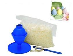 Easter Egg Candle Making Kit, 240g Kerawax Paraffin Wax, Wic