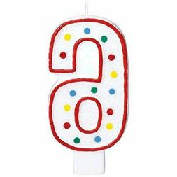 Extra Large  Amscan Birthday Party Candle #6 6 Chandelle 5 i