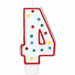Extra Large Amscan Birthday Party Perfect Candle #4 4 5 inch