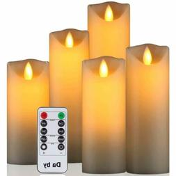 """Flameless Candle 5"""" 6"""" 7"""" 8"""" 9"""" Set of 5 Realistic Dancing L"""