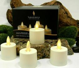 Luminara Flameless Moving Wick Tea lights Candles Ivory with