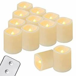 Flameless Votive Candles with Remote, 12PCS Flickering Batte