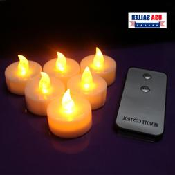 Flameless Votive Candles With Timer Battery Operated LED Lig