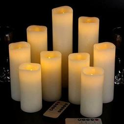 Eloer Flickering Moving Wick Flameless Pillar Candle Led Can