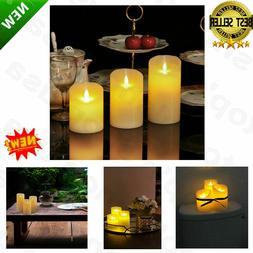 Luminara Flickering Moving Wick Flameless Pillar Candle Led