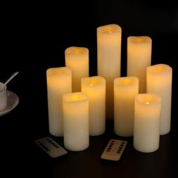 Flickering Moving Wick Flameless Pillar Candle Led Candles R