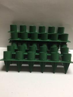 Florist  Taper Candle Holders  Green Plastic, Stick-In