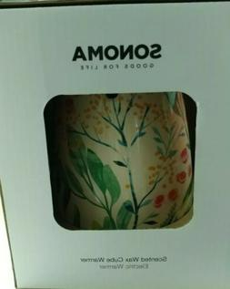 """Sonoma """"Goods for Life"""" flowers Candle Scented Wax Cube Warm"""