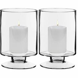 Cys Excel Glass Candle Holders, Hurricanes Candle Holders, S