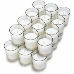 Glass Votives 24 Pack - Premium White Unscented Candles In C