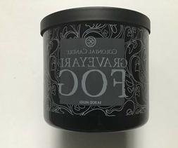 COLONIAL CANDLE GRAVEYARD FOG 14.5 oz 3-WICK HALLOWEEN LICOR