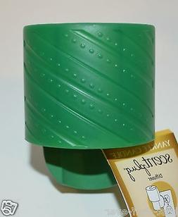 YANKEE CANDLE GREEN RIBBON DOTS SCENT PLUG IN DIFUSSER BASE