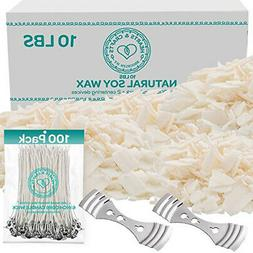 Hearts Crafts Natural Soy Paraffin Wax Candle Making Wicks D