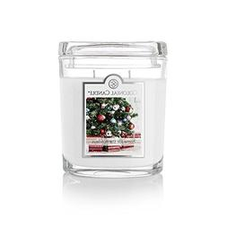 Colonial Candle 8 oz. Home for The Holidays Oval Jar, White