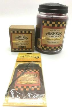 Candleberry Hot Maple Toddy Sampler - 1 Jar Candle, 1 Wax Ta
