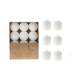 DDI 1489365 15 Hours Unscented Votive Candles - White Case O