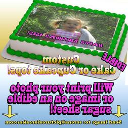 I print your photo Cake or Cupcakes Topper image SHEET pictu