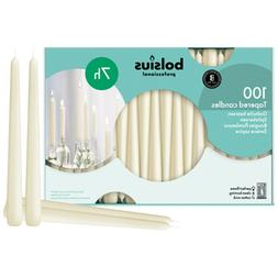 Ivory Taper Candle in bulk, 10 inch high , 100 count in a bo