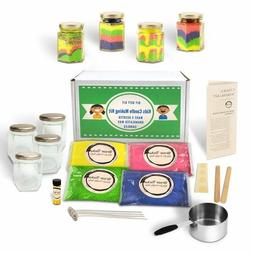 Kids Candle Making Kit- Make 4 Scented Granulated Wax Candle