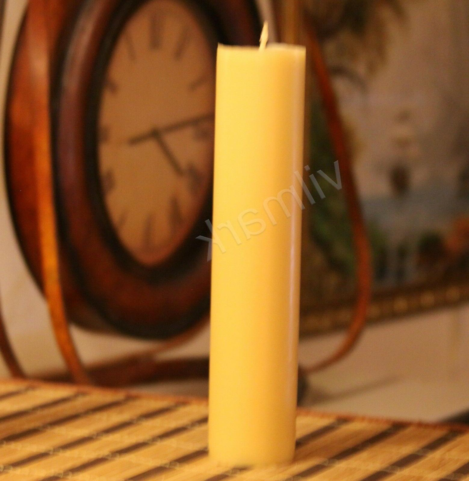 Handmade 100% Pure Beeswax Candles Cotton