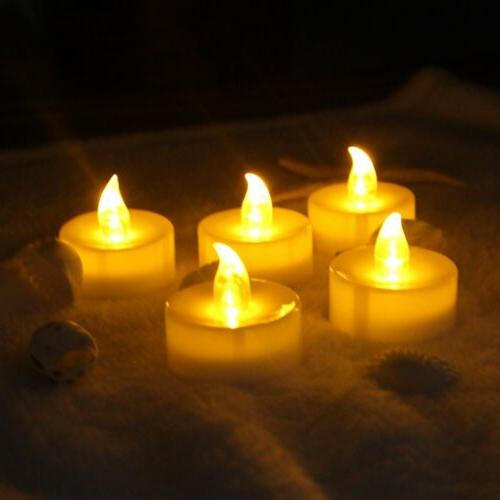 12 PCS Flameless Votive Candles Remote Control Flickering Wedding