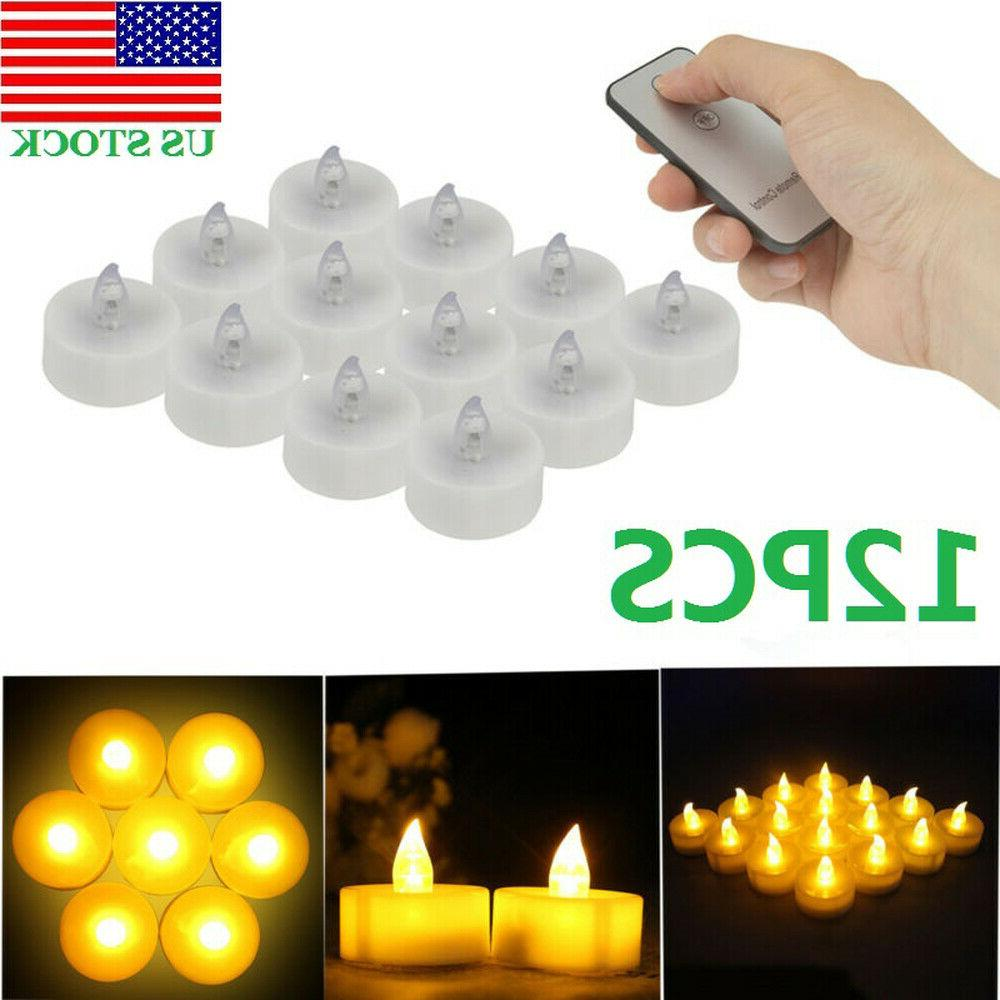 12PC Flameless Votive Candles Battery Operated Tea