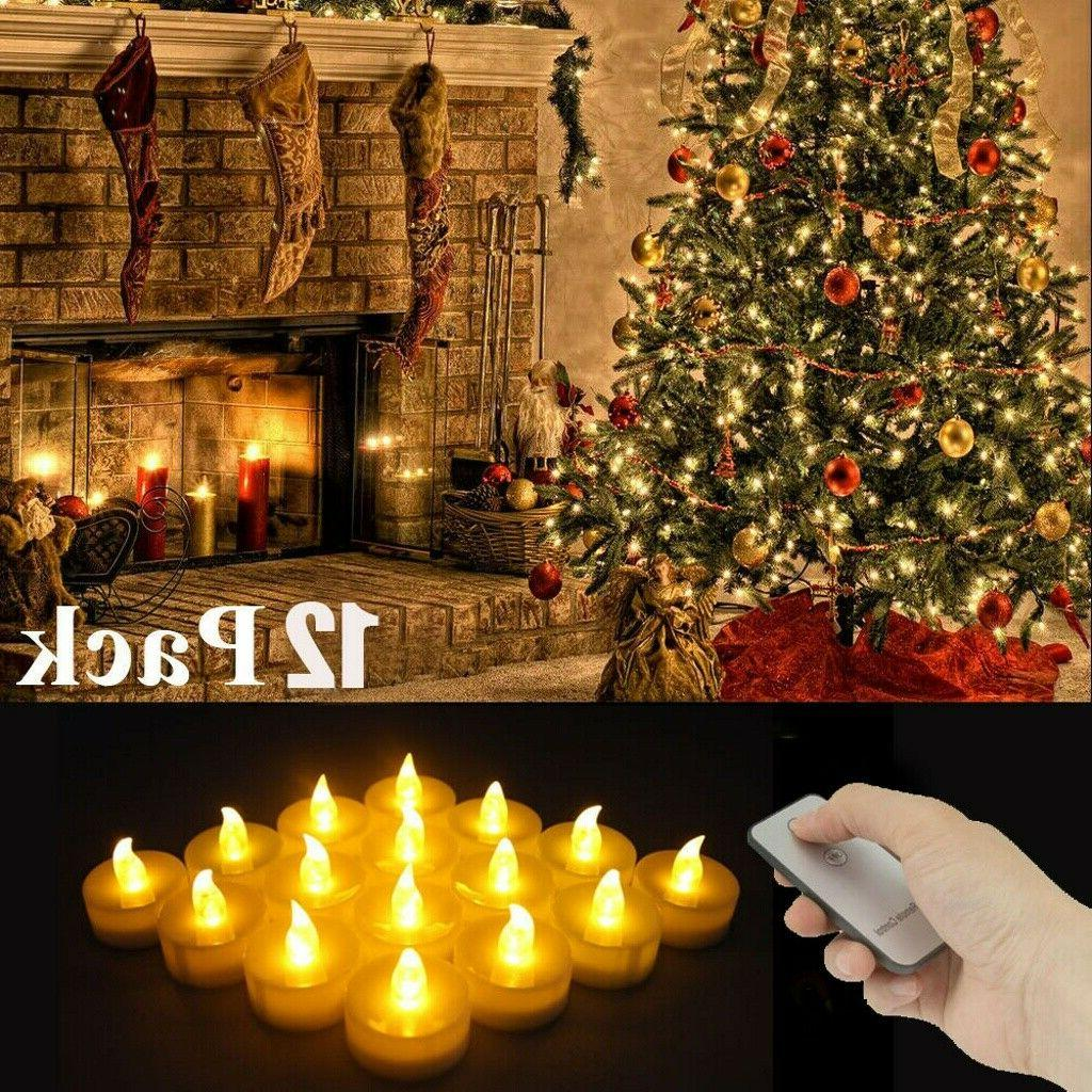 12PC Flameless Votive Battery Operated Tea