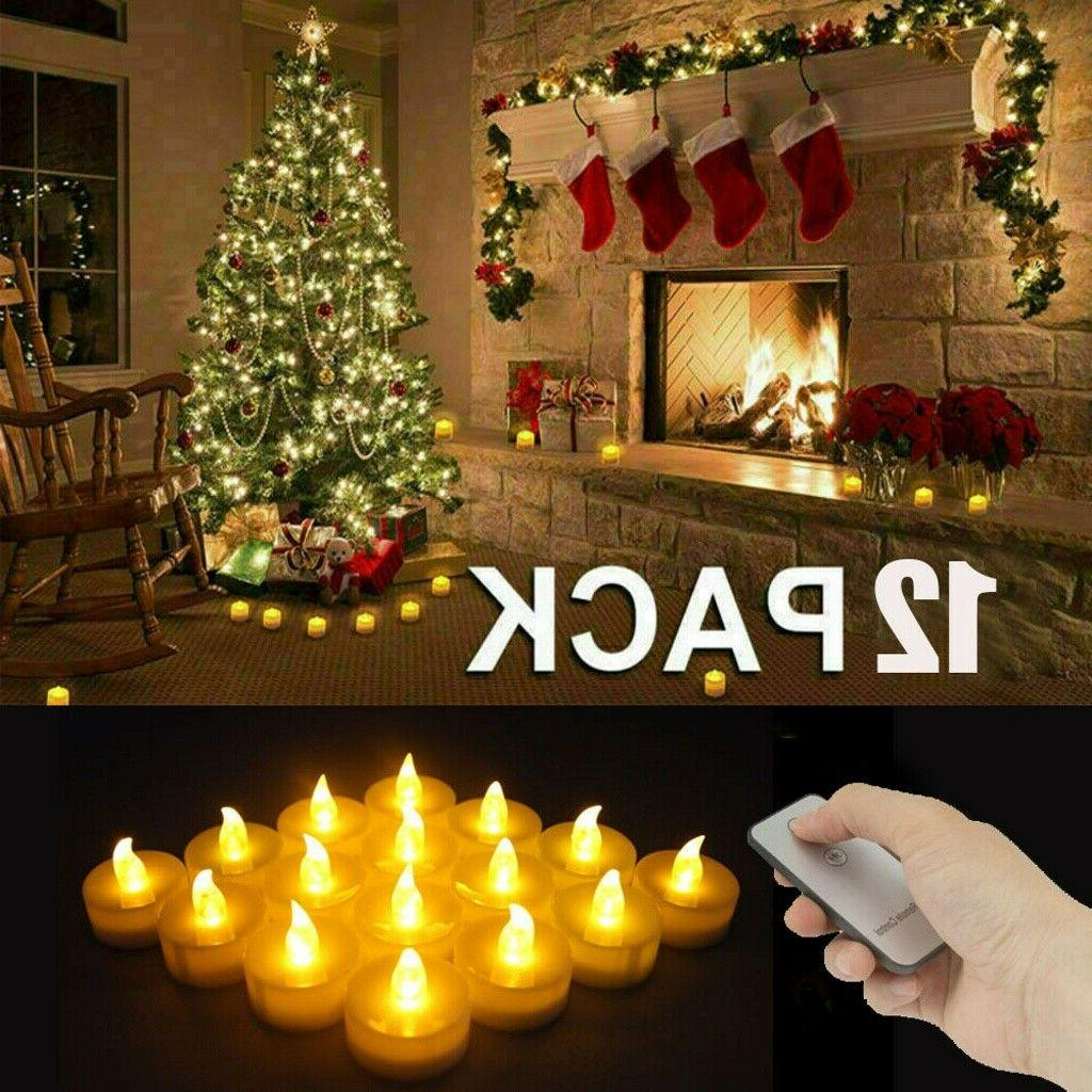 12pc flameless votive candles battery operated flickering