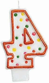 Amscan Number 4 Birthday Cake Candle