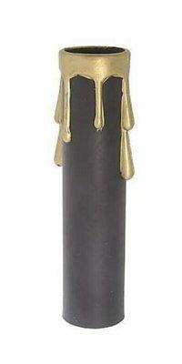 """4"""" ~ BLACK PLASTIC Candelabra Socket Candle Covers for Chand"""