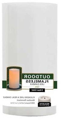 4x6 WHT Pillar Candle