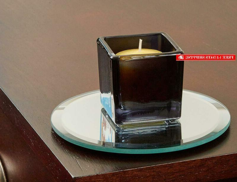 Light The 5 Mirror Candle Plate Edge Set Of 12 -