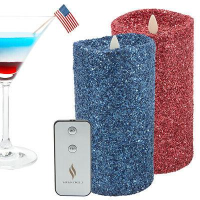 Pillar LED Real Flame Remote